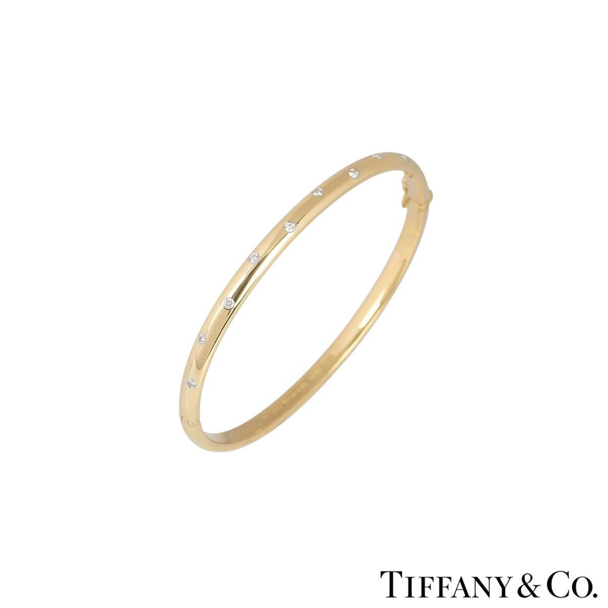 Tiffany & Co. Yellow Gold Etoile Diamond Bangle